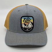 """Do Epic Shit"" Snap-Back Trucker Hat- Heather Gray/Amber Gold"