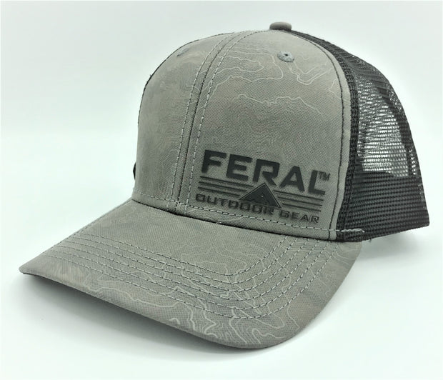 "Feral ""Topo"" Snap-Back Trucker Hat - Charcoal"