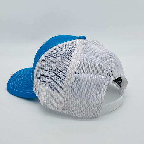 "Feral ""Classic"" Snap-Back Trucker Hat - Cyan/White"