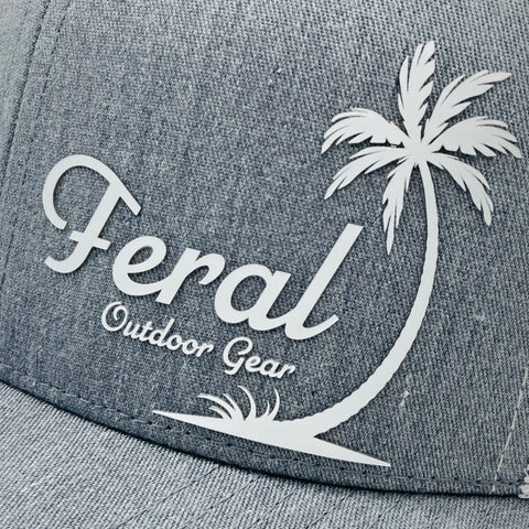 "Feral ""Oasis"" Snap-Back Trucker Hat - Heather Gray/White"