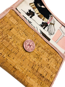Pink Sprinkle Cork Clutch