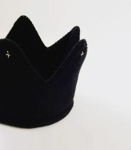Little Royal Knitted Crown – Black