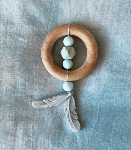 Dreamcatcher Teether - Blue Moonstone