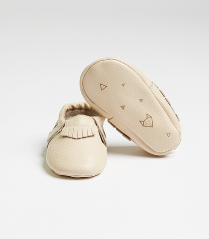 Cream Nuna Leather Moccasins