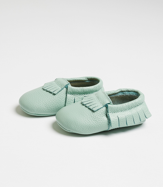 Teal Nuna Leather Moccasins