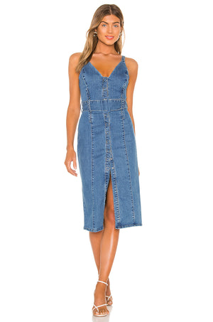 Coco Midi Dress - Washed Blue