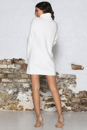 June Knit Dress - White