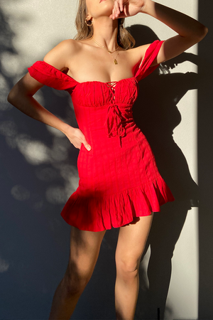 Tuscan Dress - Red