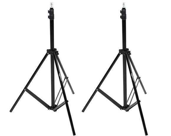 AmazonBasics Aluminum Light Photography Tripod Stand with Case - Pack of 2, 2.8 - 6.7 Feet, Black - VideoBizAzon Store