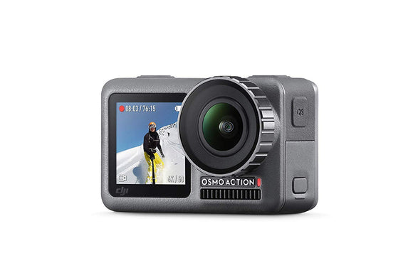 DJI OSMO Action Cam Digital Camera with 2 Displays 36FT/11M Waterproof 4K HDR-Video 12MP 145° Angle Black - VideoBizAzon Store