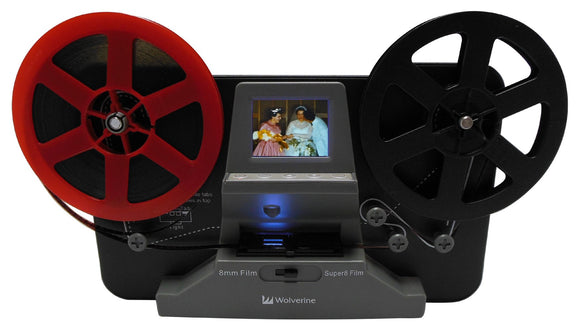 Wolverine 8mm and Super 8 Film Reel Converter Scanner to Convert Film into Digital Videos. Frame by Frame Scanning to Convert 3 inch and 5 inch 8mm Super 8 Film reels into 720P Digital - VideoBizAzon Store