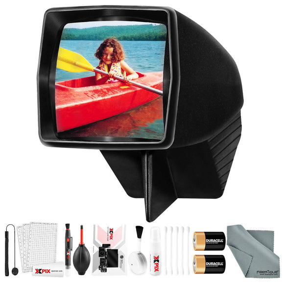 Pana-Vue #1 Lighted 2x2 Slide Film Viewer for 35mm (6560) + Deluxe Cleaning Kit + Batteries - VideoBizAzon Store
