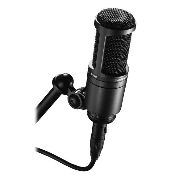 Audio-Technica AT2020 Cardioid Condenser Studio XLR Microphone, Black - VideoBizAzon Store