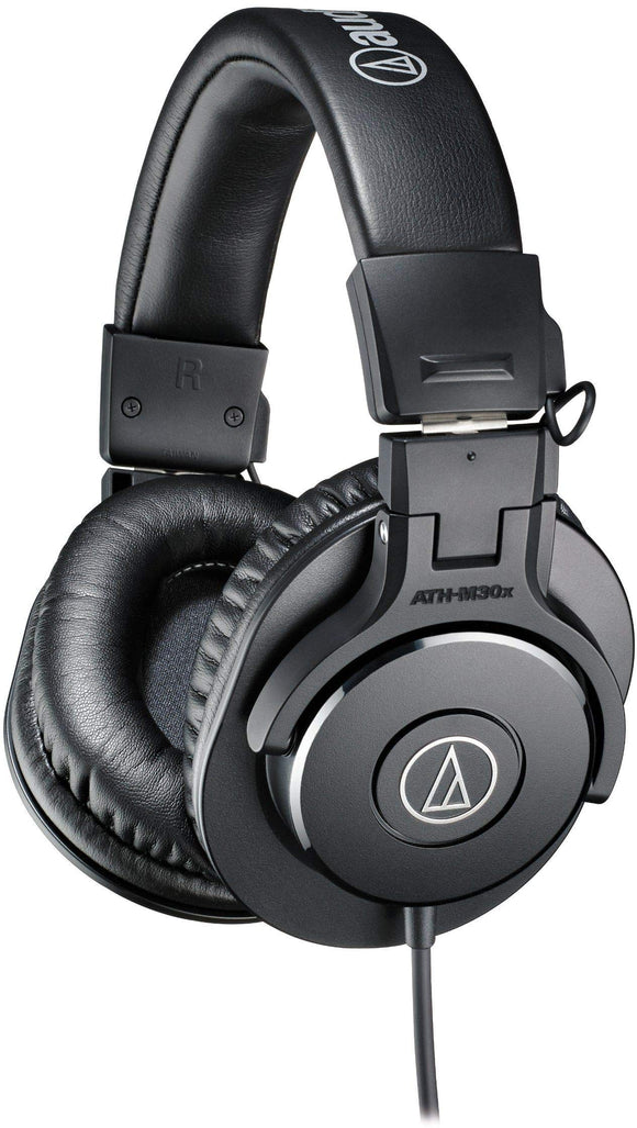 Audio-Technica ATH-M30x Professional Studio Monitor Headphones, Black - VideoBizAzon Store