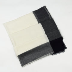 Large Organic Pure Lightweight Fine Wool Scarf