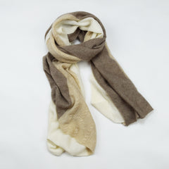 Ultra Soft Organic Pure Cashmere Wrap - Noisette