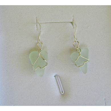 Earrings: Bermuda Sea Glass - Hand Made (Bermuda)