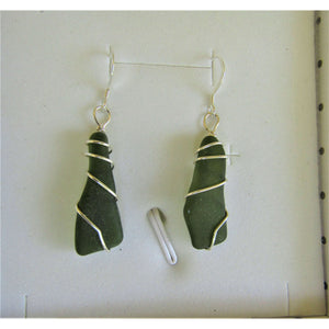 Earrings: Bermuda Sea Glass - Hand Made (Bermuda) Ltd