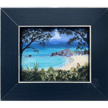 "Load image into Gallery viewer, Print: Framed (Canvas) 5.875""x6.75""x.75"" - Hand Made (Bermuda)"