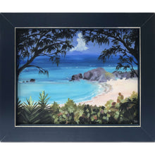 "Load image into Gallery viewer, Print: Framed (Canvas) 9.875""x11.75""x.75"" - Hand Made (Bermuda)"
