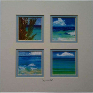 "Print: Matted 8""x8"" - Hand Made (Bermuda)"
