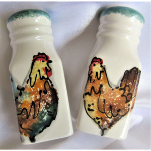 Salt & Pepper: Painted - Hand Made (Bermuda)