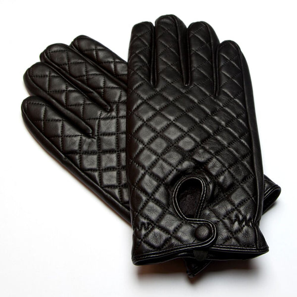 RUMI Black Leather Gloves