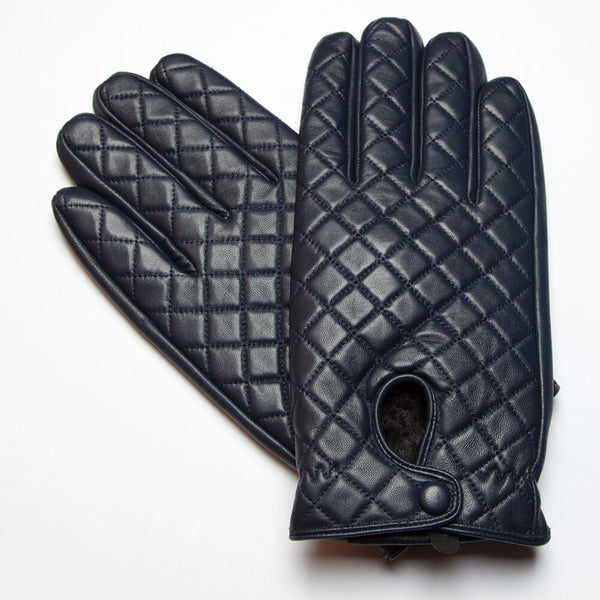 RUMI Navy Leather Gloves