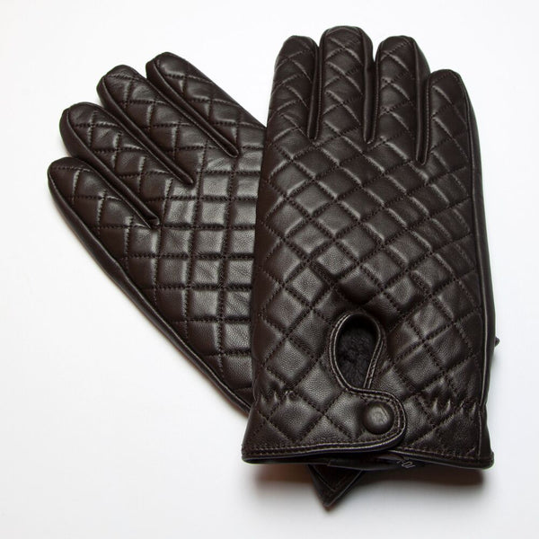 RUMI Dark Brown Leather Gloves