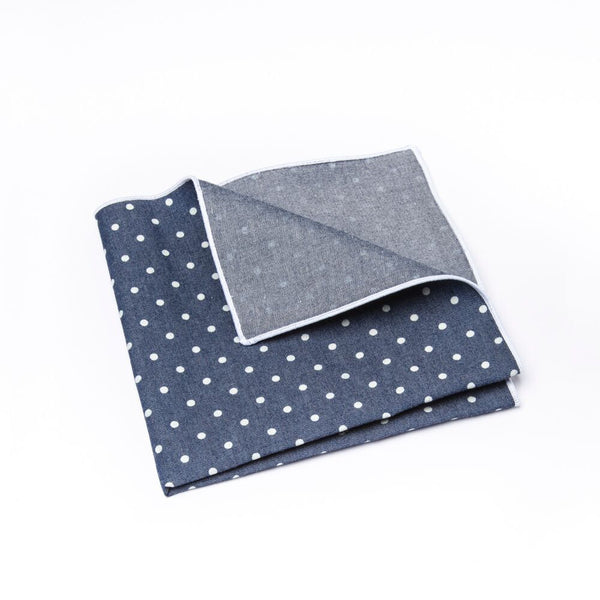 Rumi Denim Pocket Square
