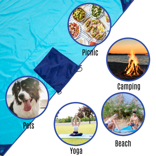 The Best Sand Free Beach Blanket/Mat: Over $1M Sold and Hundreds of Five-Star Reviews