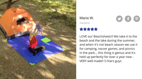 Mother and baby laying out while camping on the camp blanket, Beachsheetz