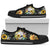 Black Skull Skeleton Sunflower Sunshine Low Top Shoes WM-BLACK