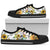 White Skull Skeleton Sunflower Sunshine Low Top Shoes WM-BLACK