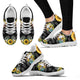 Black Skull Skeleton Sunflower Sunshine Sneaker WM -BLACK