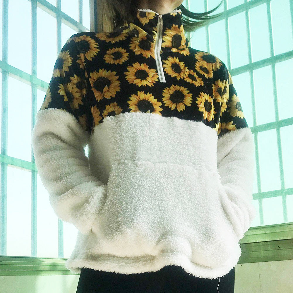 Sunflower Warm Pullover Zip - Wonder Hippie Official
