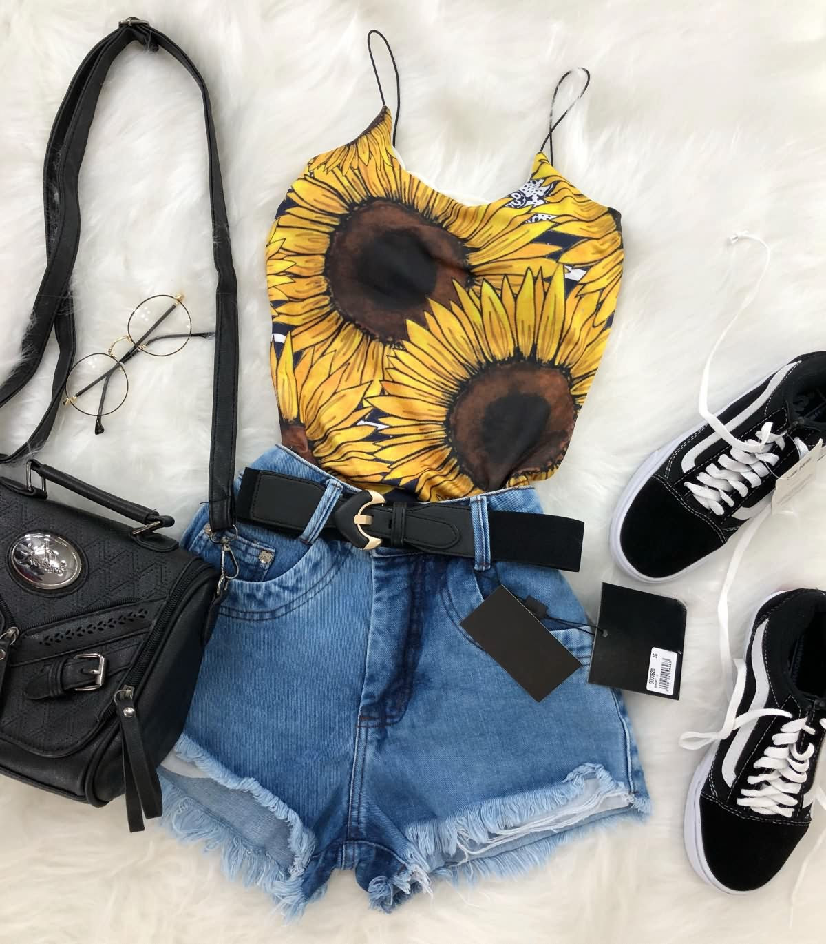 Women Slip Tank Top SunFlower