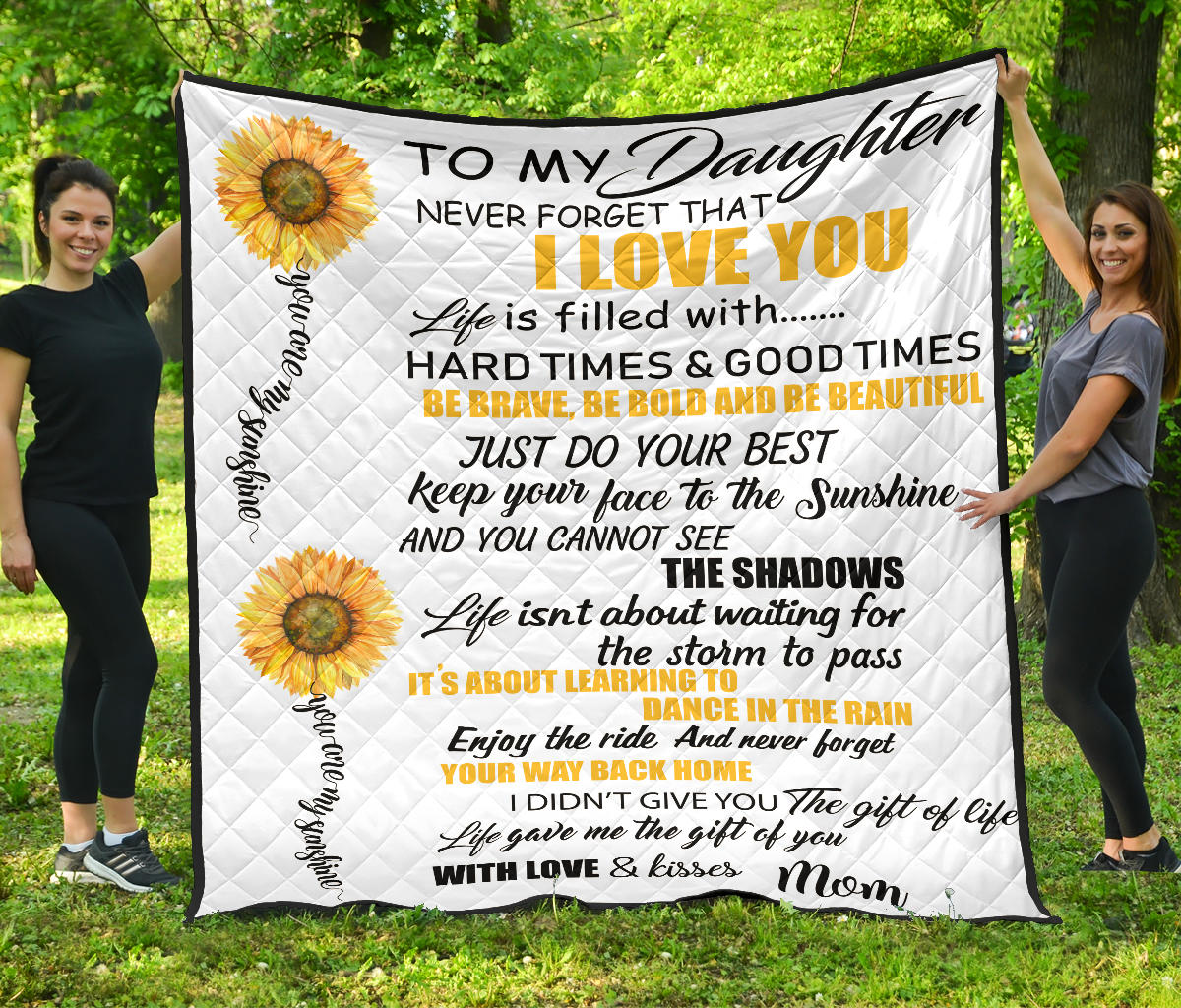 To My Daughter I Love You Premium Quilt
