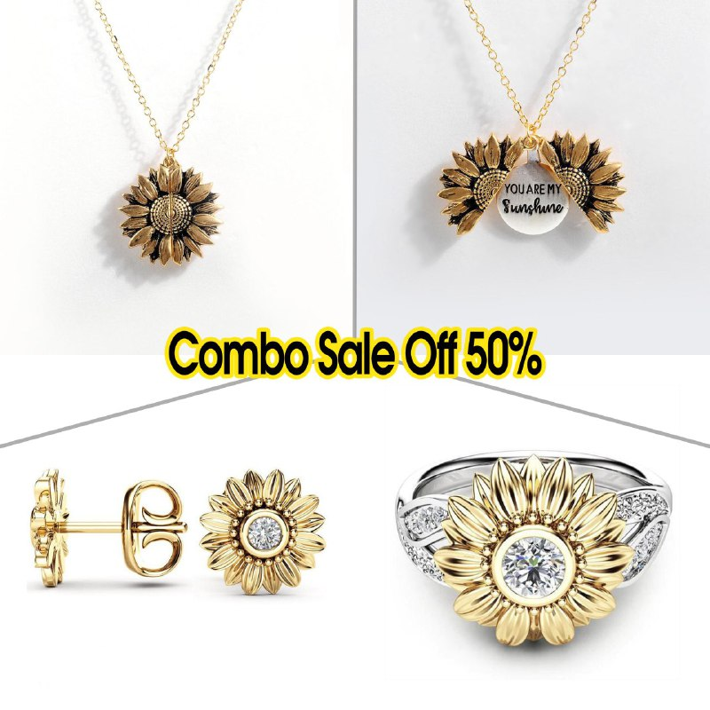 Combo Sunflower Jewelry Premium