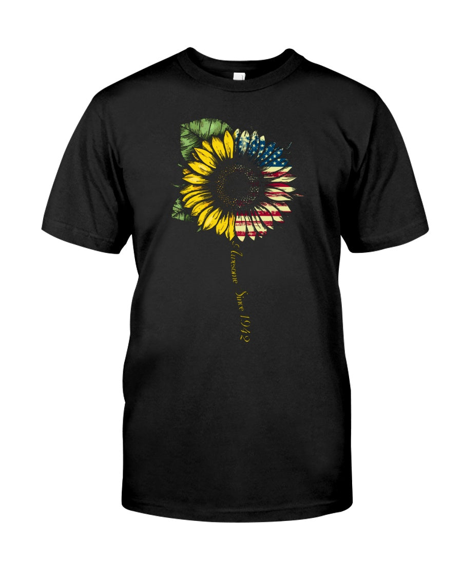 You are my sunshine sunflower america flag tee shirt