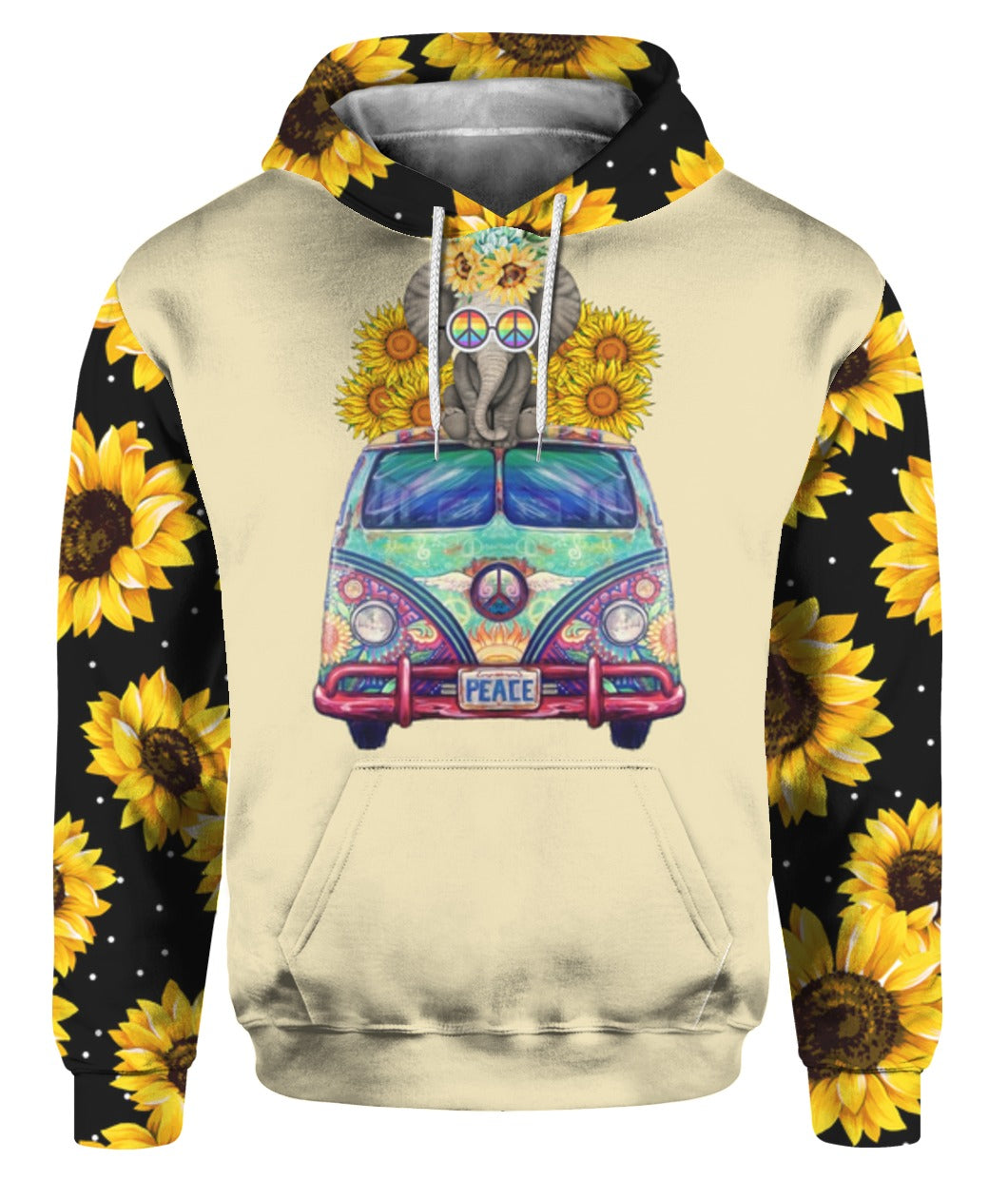 Hippe Sunflower 3D Hoodie Full Printed - Wonder Hippie Official