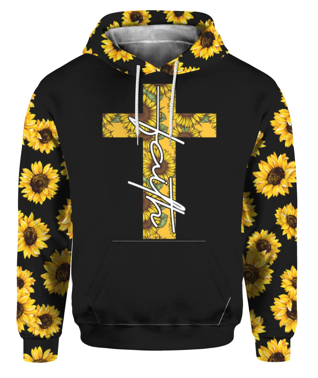 Jesus Faith Sunflower 3D Hoodie Full Printed - Wonder Hippie Official