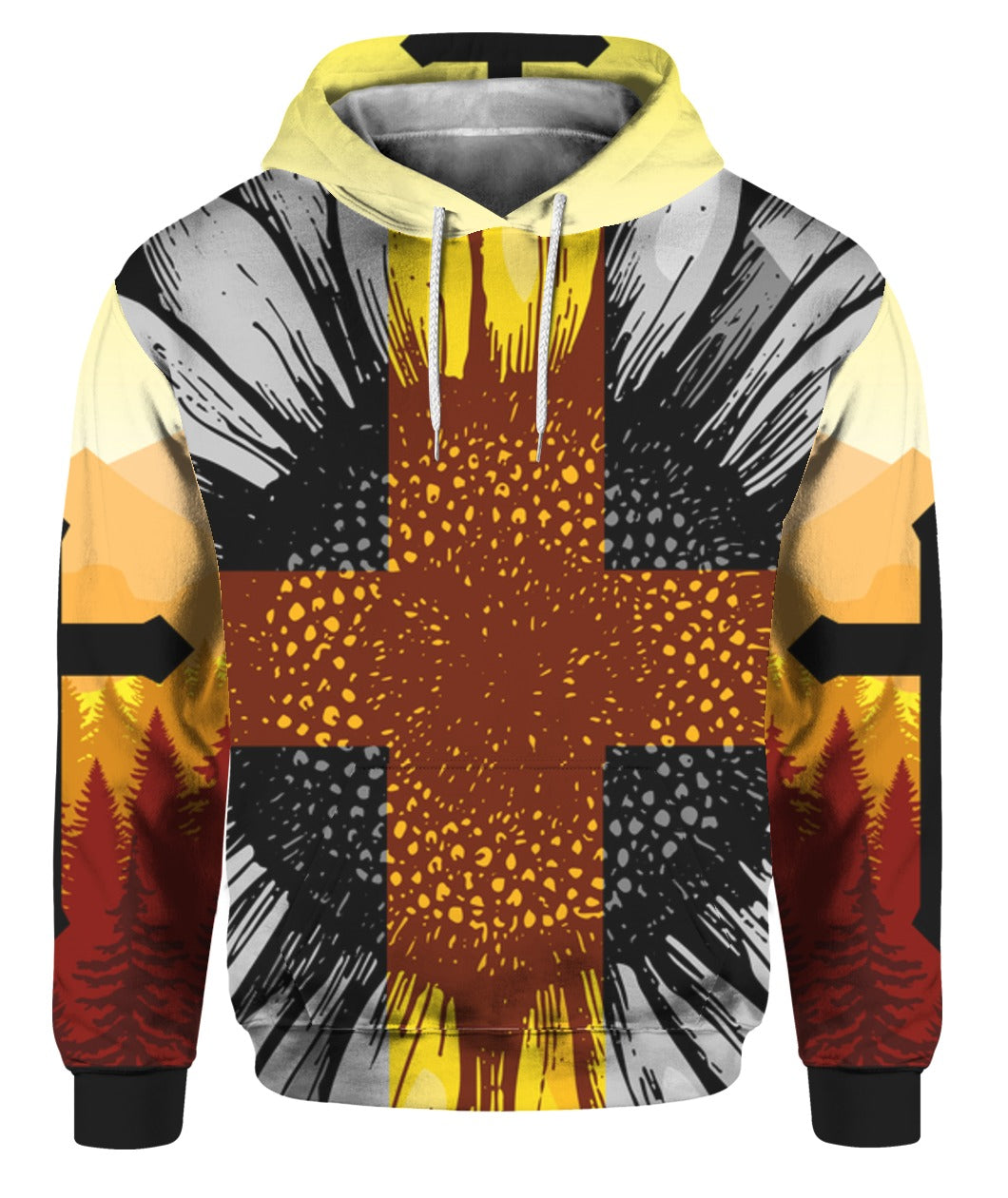 Cross Sunflower Jesus 3D Hoodie Full Printed