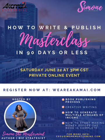 Masterclass: How to Write & Publish a Book in 90 Days or Less