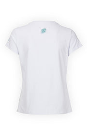CAMISETA BLANCA ESSENTIALS BOX BLUE LOGO YATRA - YATRA