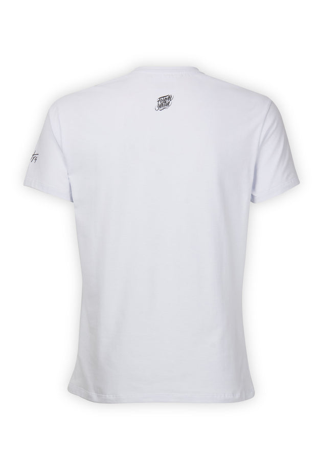 CAMISETA BLANCA ESSENTIALS BOX LOGO YATRA - YATRA