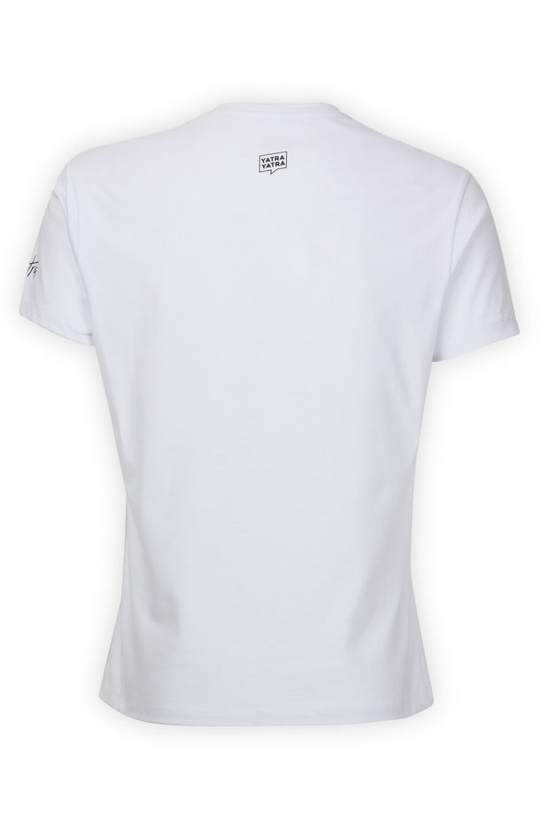 CAMISETA BLANCA FOREVER YATRA ROSE COLOR