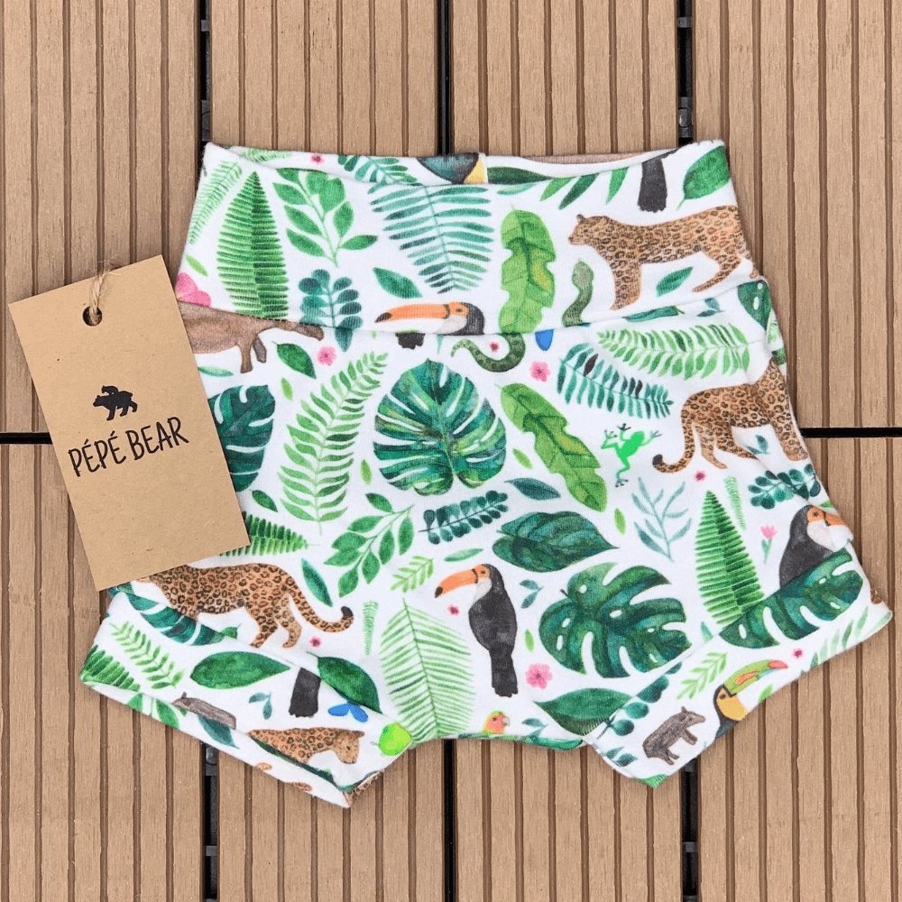 Handmade Organic Cuffed Shorts - PÉPÉ BEAR - Cute Baby & Toddler Clothes - Dubai Abu Dhabi UAE