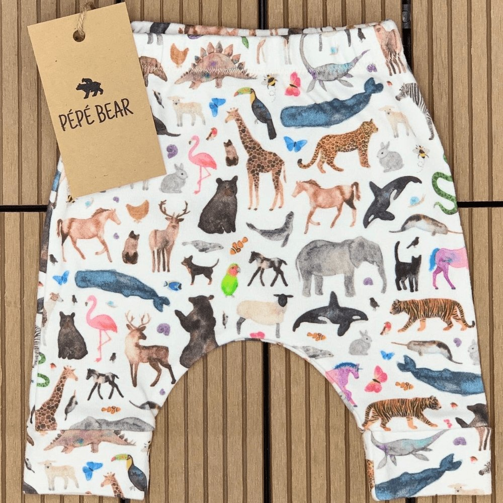 Handmade Organic Leggings - PÉPÉ BEAR - Cute Baby & Toddler Clothes - Dubai Abu Dhabi UAE