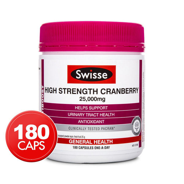 SWISSE Ultiboost High Strength Cranberry 180 Capsules